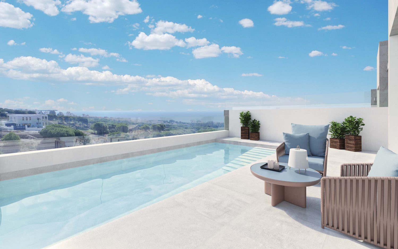 Geschakelde villa's op schitterende golflocatie met adembenemend zeezicht in Cabopino.PL98