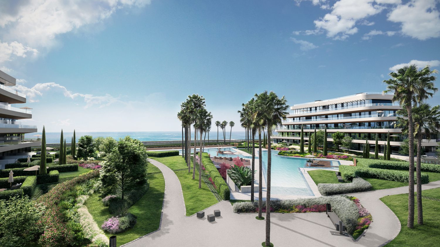 New luxury complex at the beach of Torremolinos.PL101