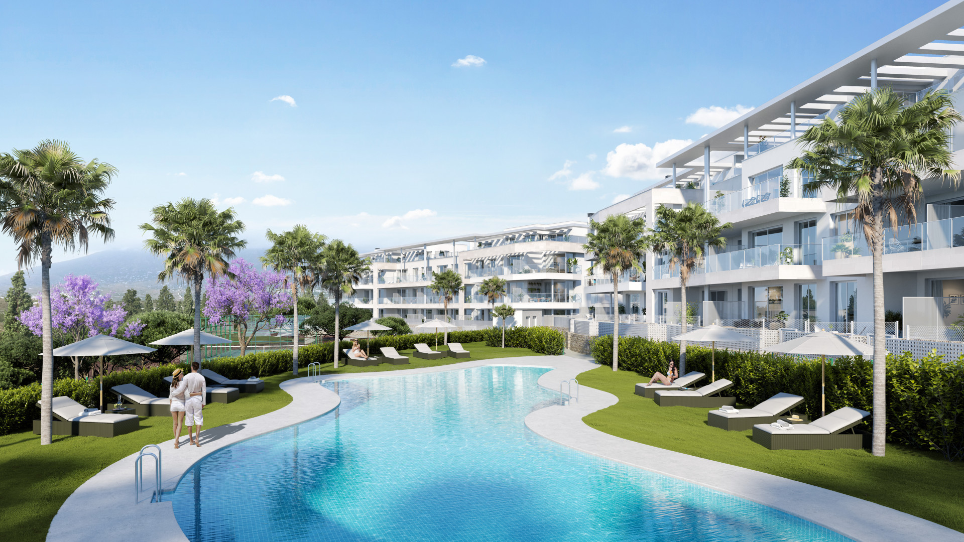 Impressive new complex on a perfect location with mostly seaviews in Mijas Costa.PL102