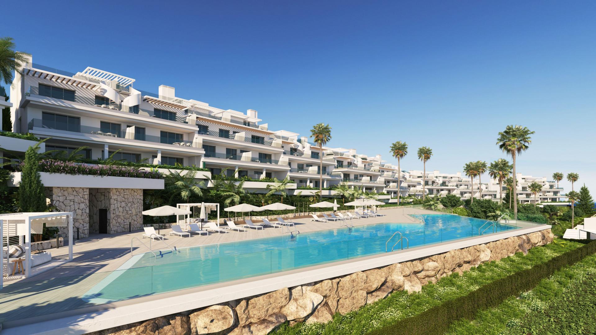 Exclusieve nieuwbouw met zeezicht in Estepona.PL111