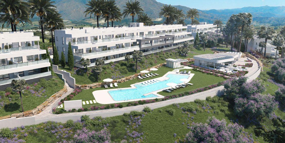 Betaalbare appartementen met zeezicht in Casares. PL119