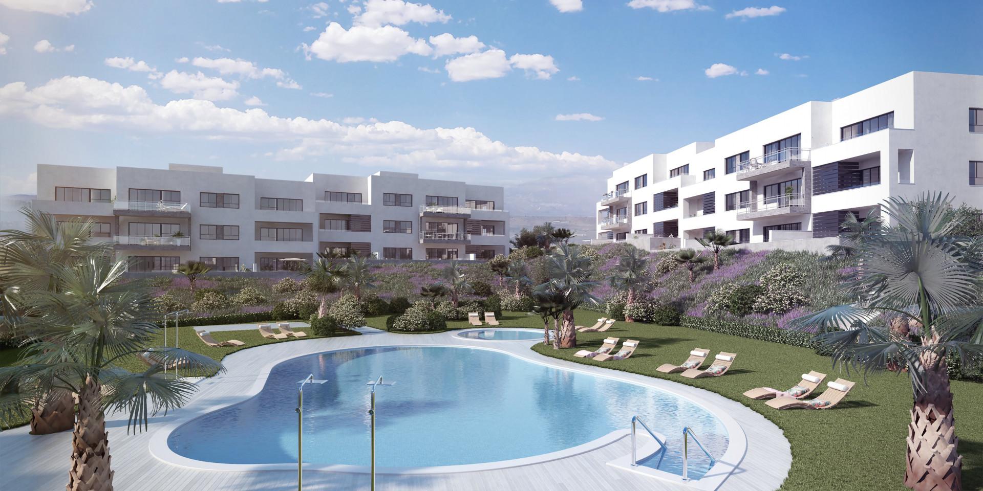 Royale nieuwbouwappartementen op uitstekende lokatie in Torre del Mar.PL124