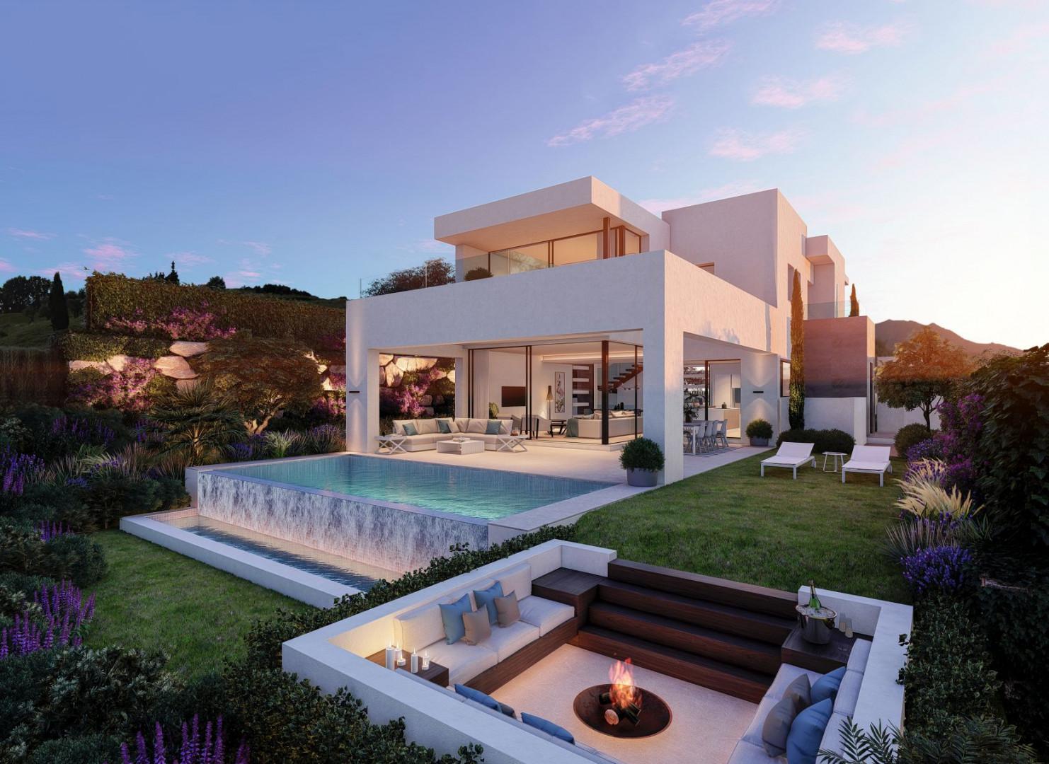 Klassevilla's op een prachtige plek tussen de bergen en de zee in Estepona.PL129