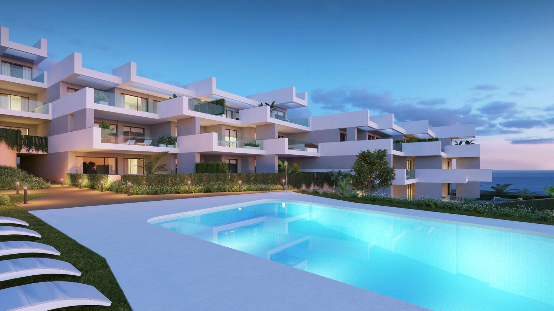 Zeer eigentijdse appartementen met zuid zeezicht in Manilva.PL138