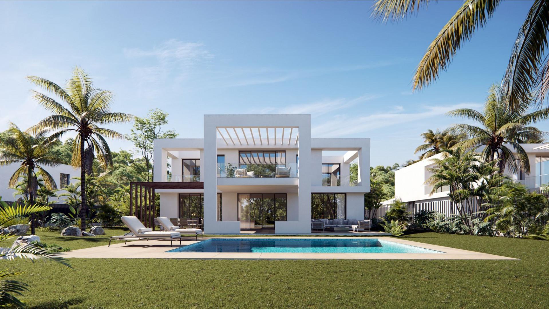 Kleinschalig zeer luxe villaproject aan de golf en dichtbij zee in Marbella.PL145