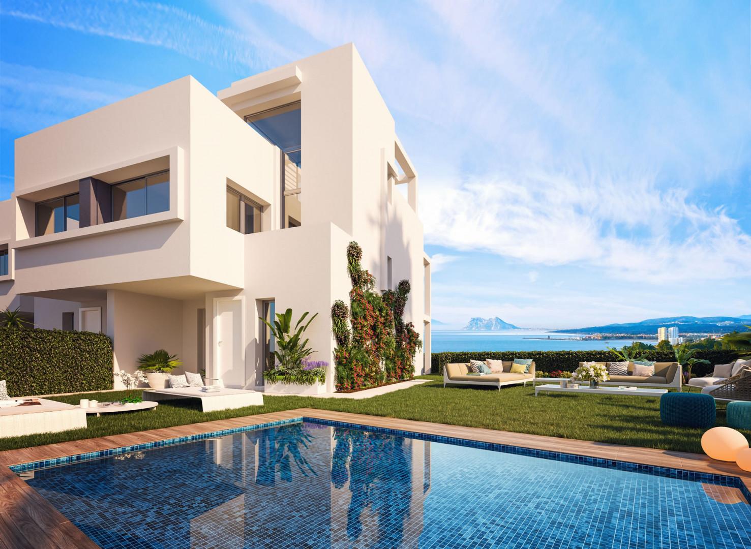 Geschakelde villa's met spectaculair uitzicht in Manilva.PL152