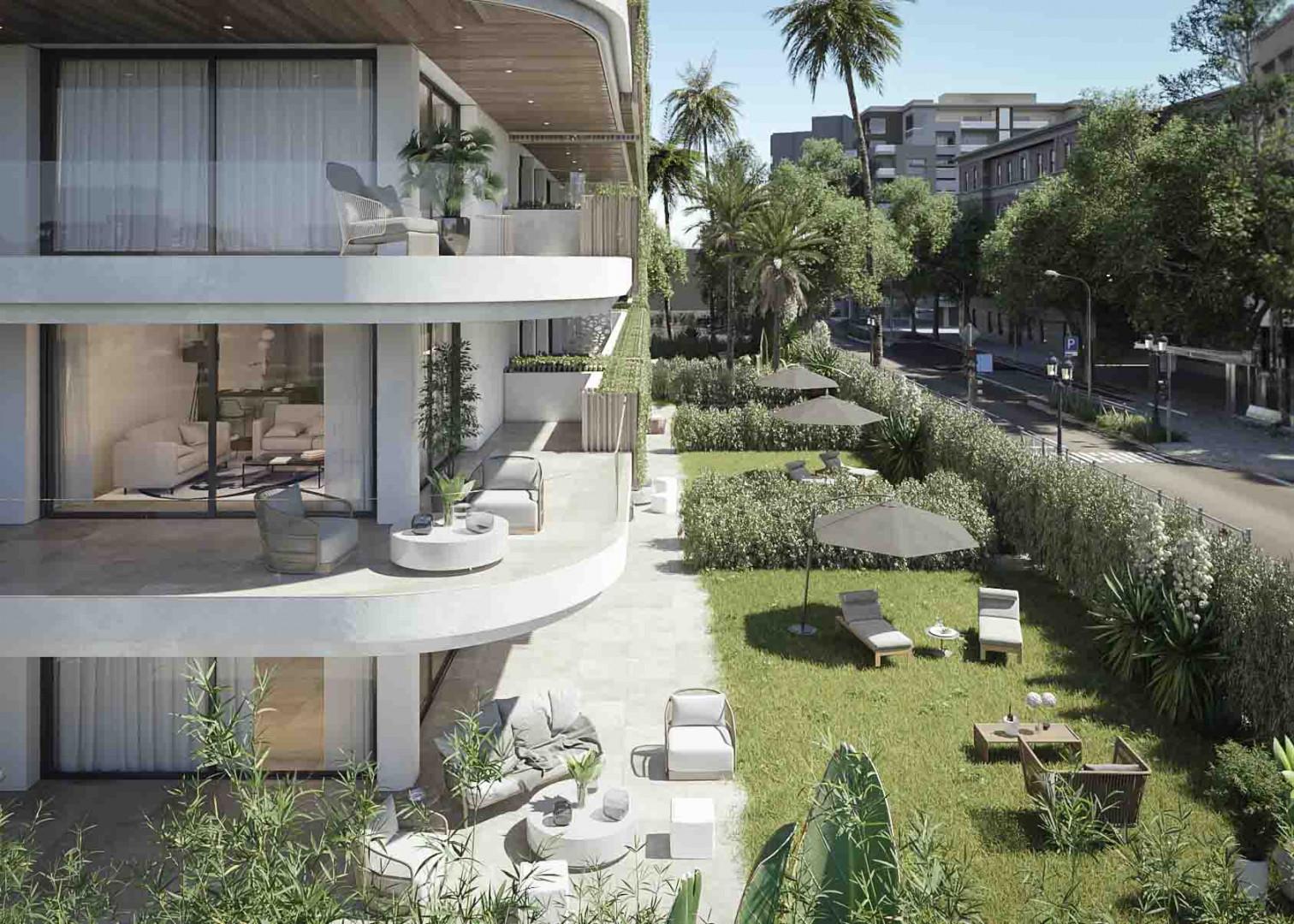Uniek!! Luxe nieuwbouwappartementen, 2e lijn strand met zeezicht in Fuengirola.PL153