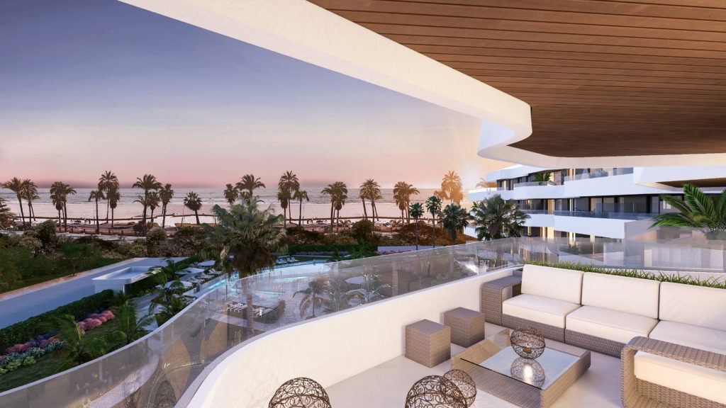 Beachfront apartments perfectly located in Torremolinos.PL155