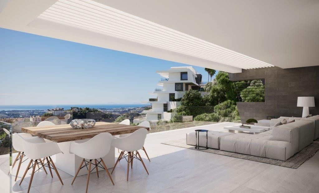 Superluxe appartementen met panoramisch zeezicht in Benahavis.PL157