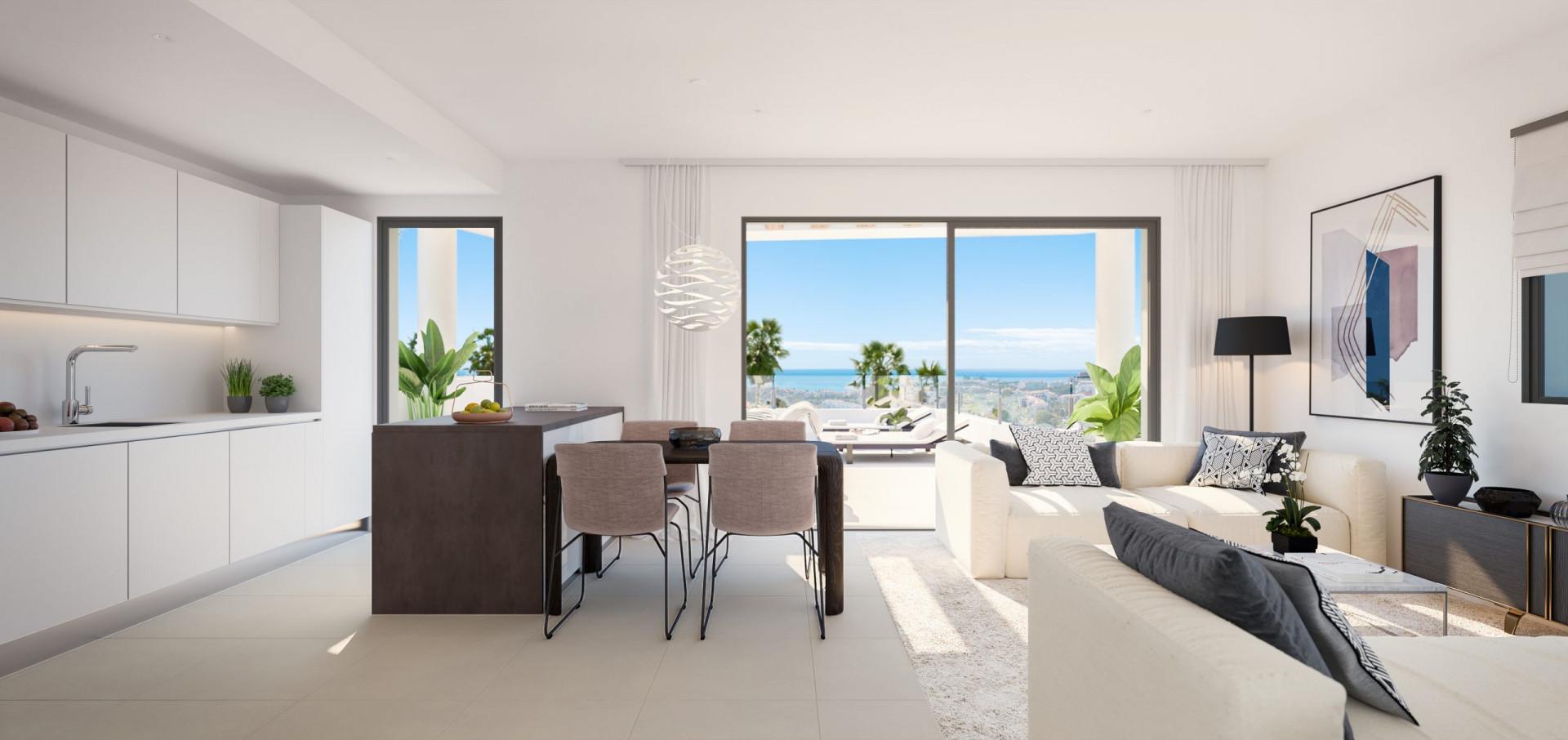 Moderne nieuwbouw met prachtig zee-en bergzicht in La Cala de Mijas.PL160