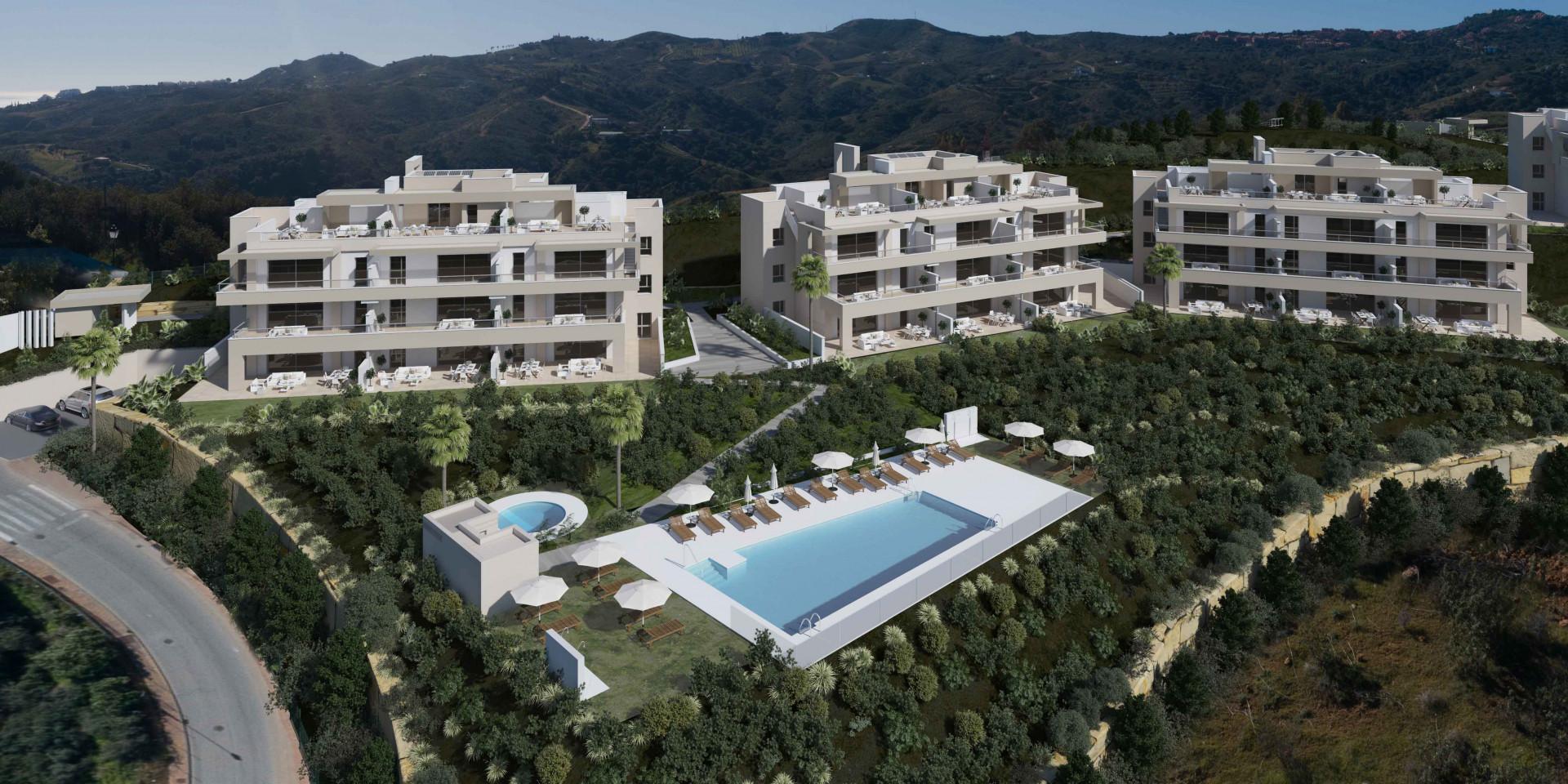 Schitterend gelegen nieuwbouw met uniek uitzicht in La Cala de Mijas.PL161