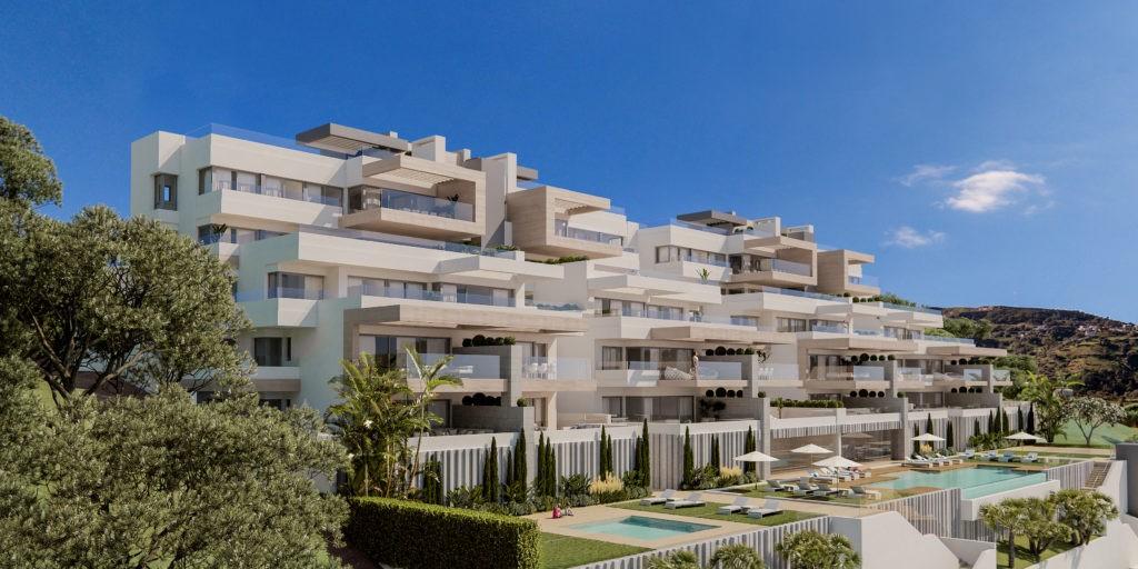 Estepona. Nieuwe appartementen en penthouses, vaak ook met zeezicht. PL57