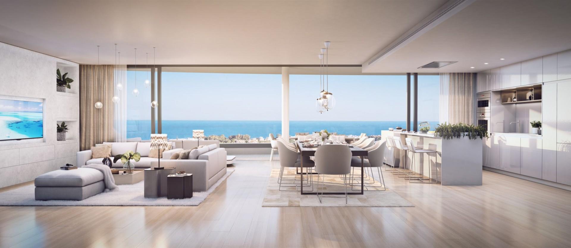 Prachtig ontworpen eigentijdse appartementen met uitzicht over de kust van Fuengirola.PL73