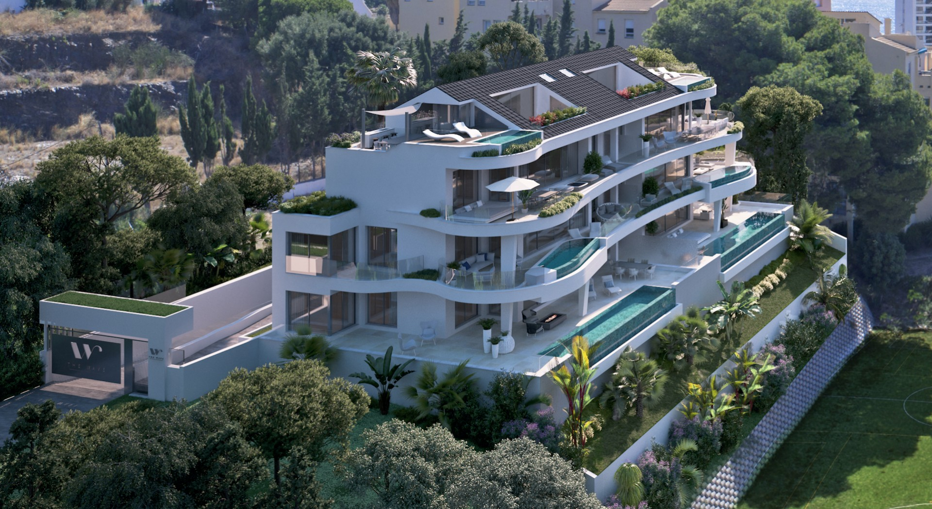 Klein en zeer exclusief nieuw complex in Benalmadena Costa.PL88