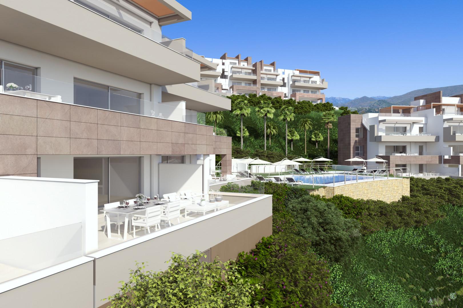 Superb new apartmentcomplex in this well known golfresort in La Cala de Mijas.PL91